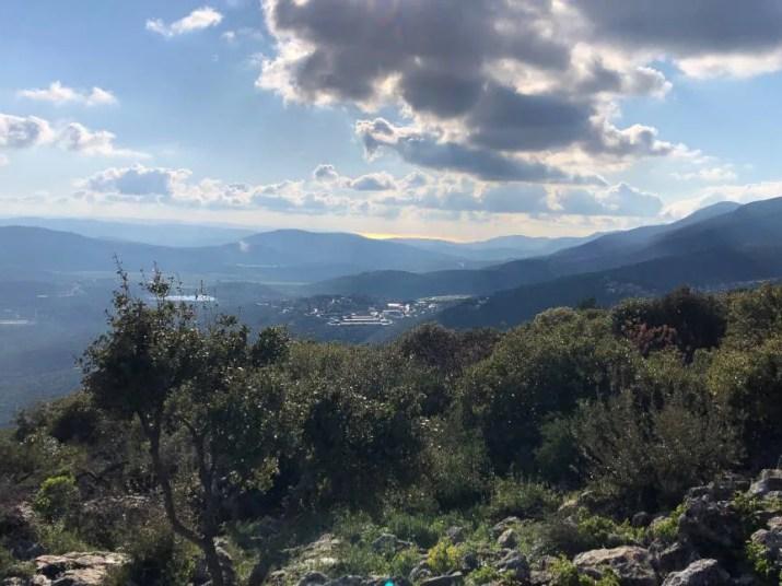 The Mediterranean sea in the horizon viewed from Mount Mitspe Hyamim
