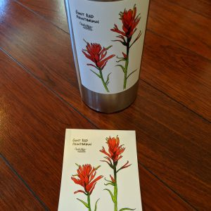 giant red paintbrush sticker