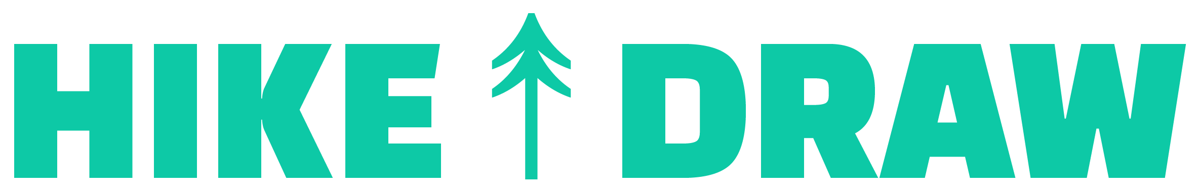 Hike and Draw Logo-Green