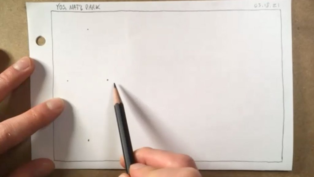 how to draw a tree - step 1