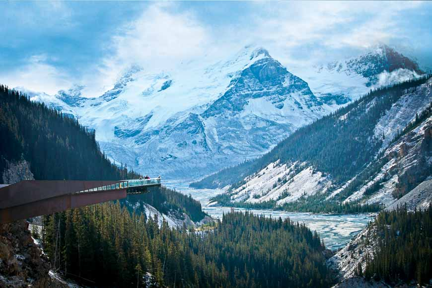 Quite the backdrop for the Glacier Skywalk – Photo credit: Columbia Icefield Adventure by Pursuit