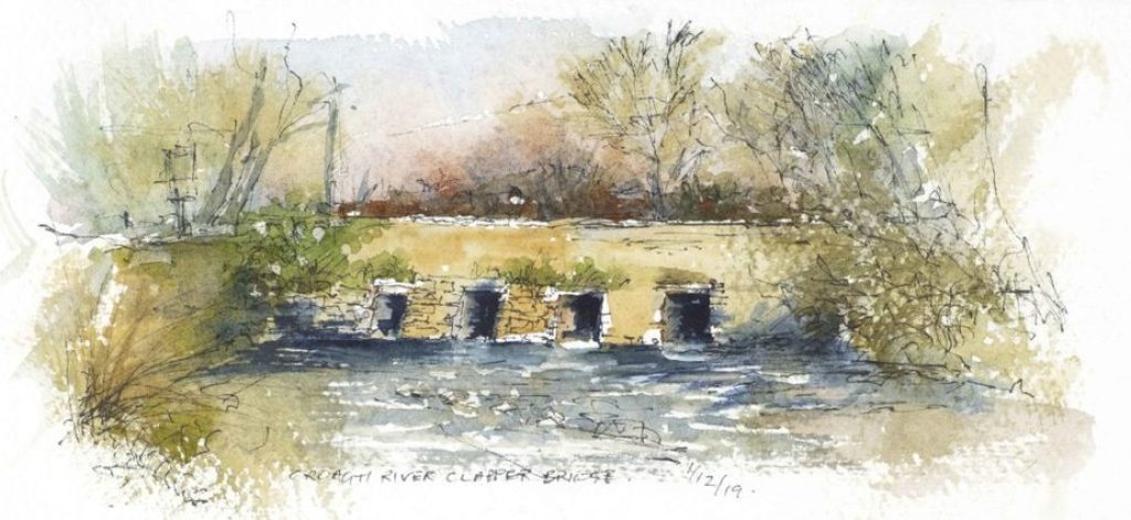 Clapper Bridge - Watercolour sketch