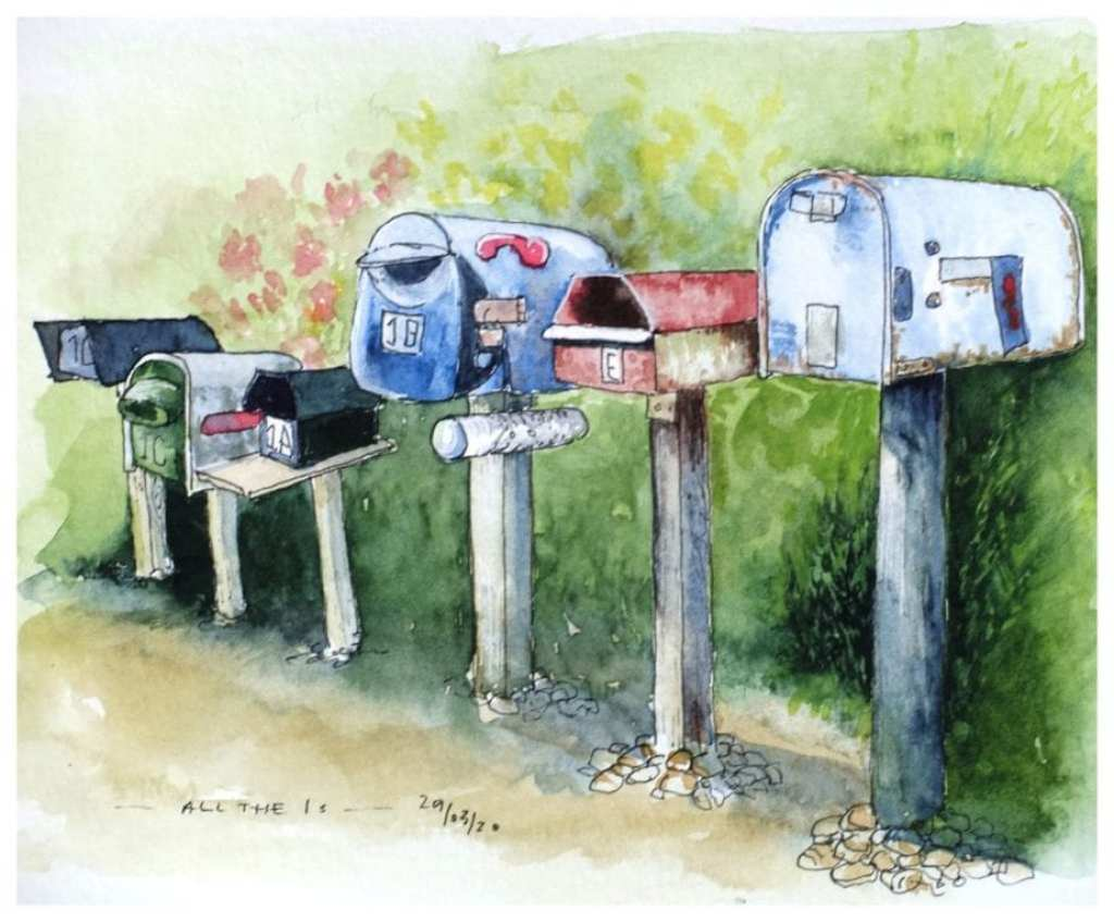 Post boxes - All the 1s