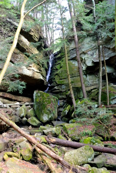 A waterfall found off of a side trail of the Grandma' Gateway trail.