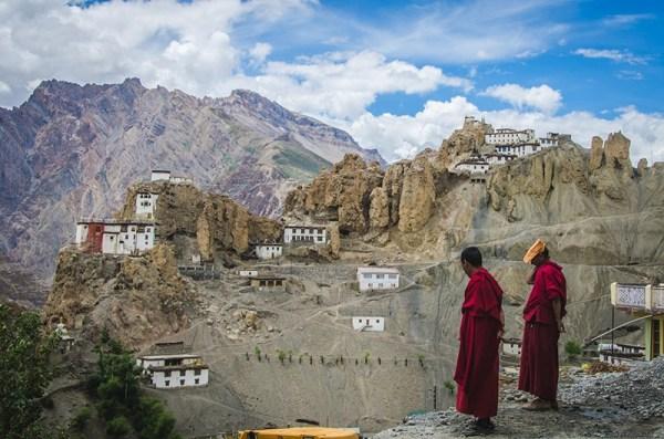 Dhankar-village monastry-monks