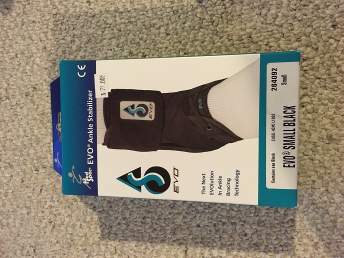 EVO ankle stabilizer, ankle brace, ankle sprain, twisted ankle, rolled ankle, how to heal, medical equipment