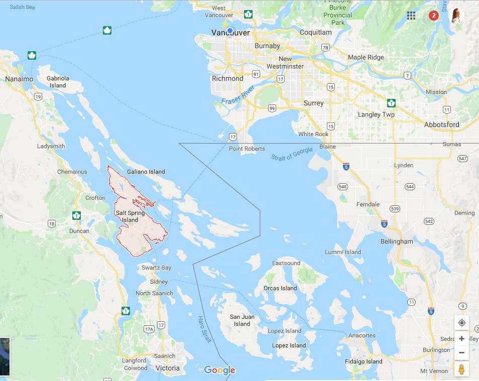 Salt Spring Island map