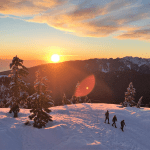 Mount Seymour to Brockton Point Winter Route sunset