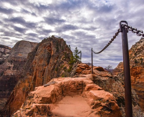 Chains on Angels Landing trail