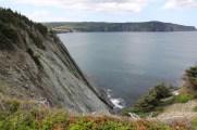 Sheer cliffs behind Motion Drive.