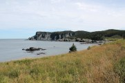 Timber Cove and the cliffs beyond.