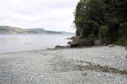 Deep Cove beach at the bottom of the first hill.