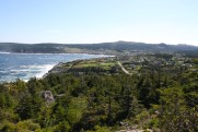 A look back at Pouch Cove from Little Bald Head.