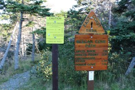 The trailhead at Cape St. Francis.