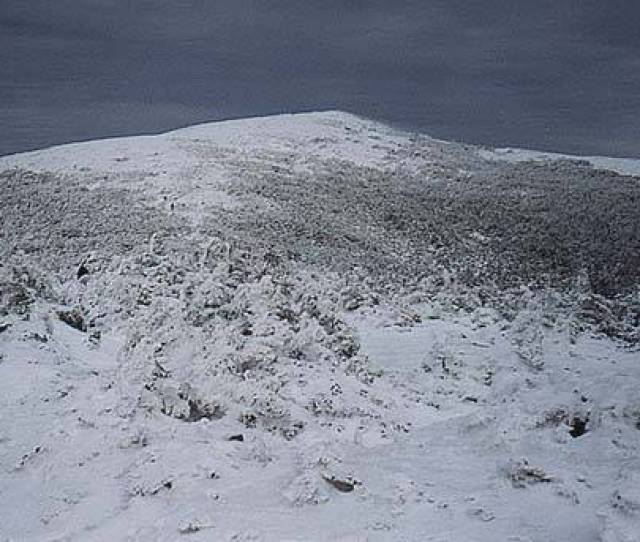 Moosilauke From South Peak In Winter