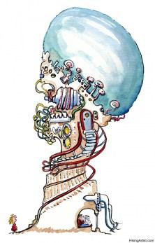 Drawing of a big virtual machine