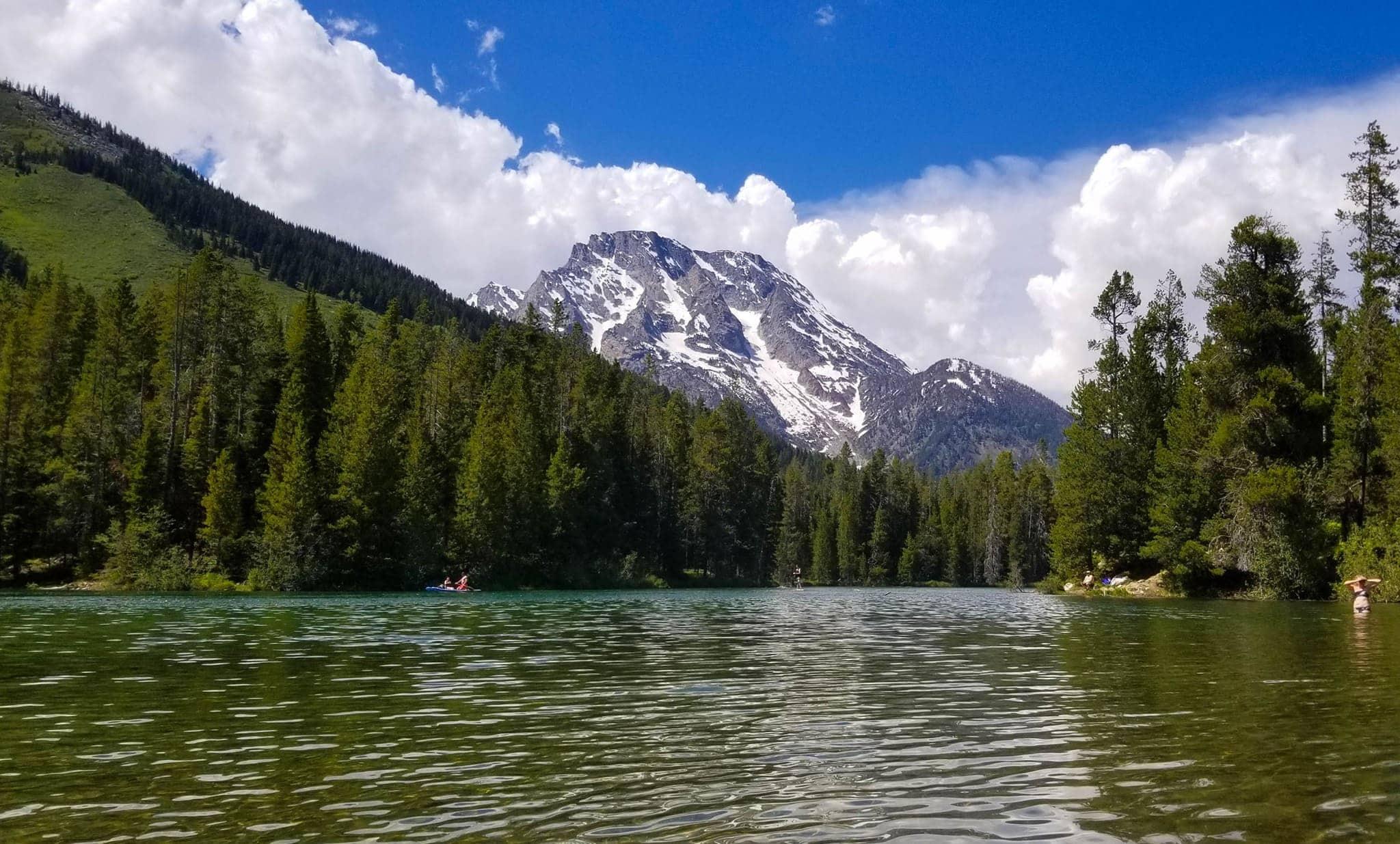 Mount Moran from Sting Lake