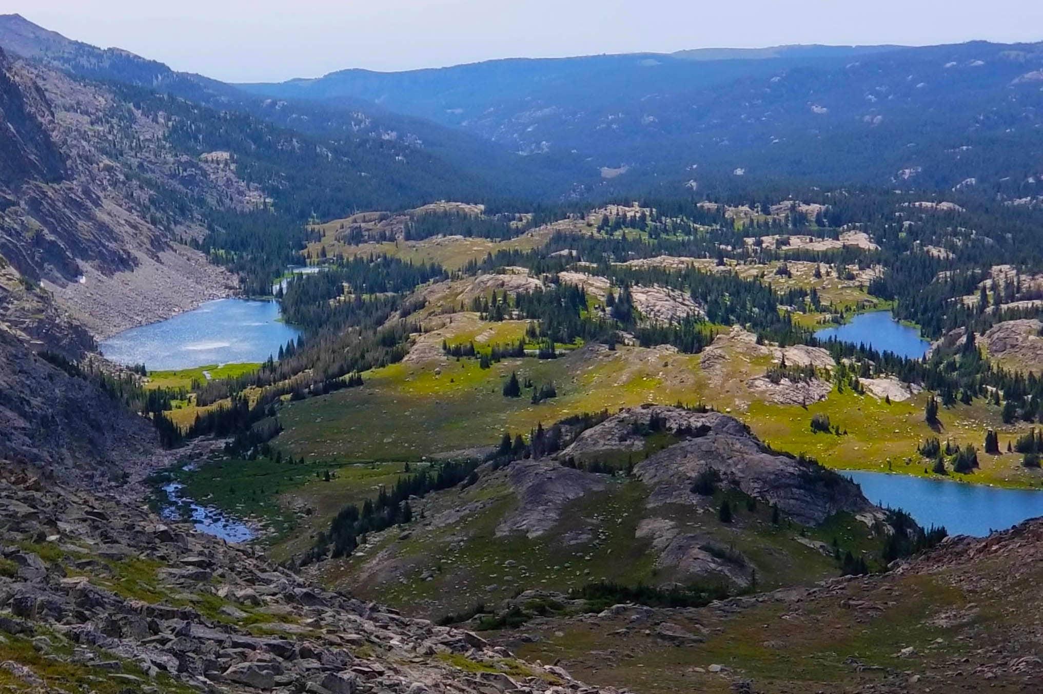 Cliff Lake, Lake Eunice, and Sheepherder Lake, Wyoming Cloud Peak Wilderness