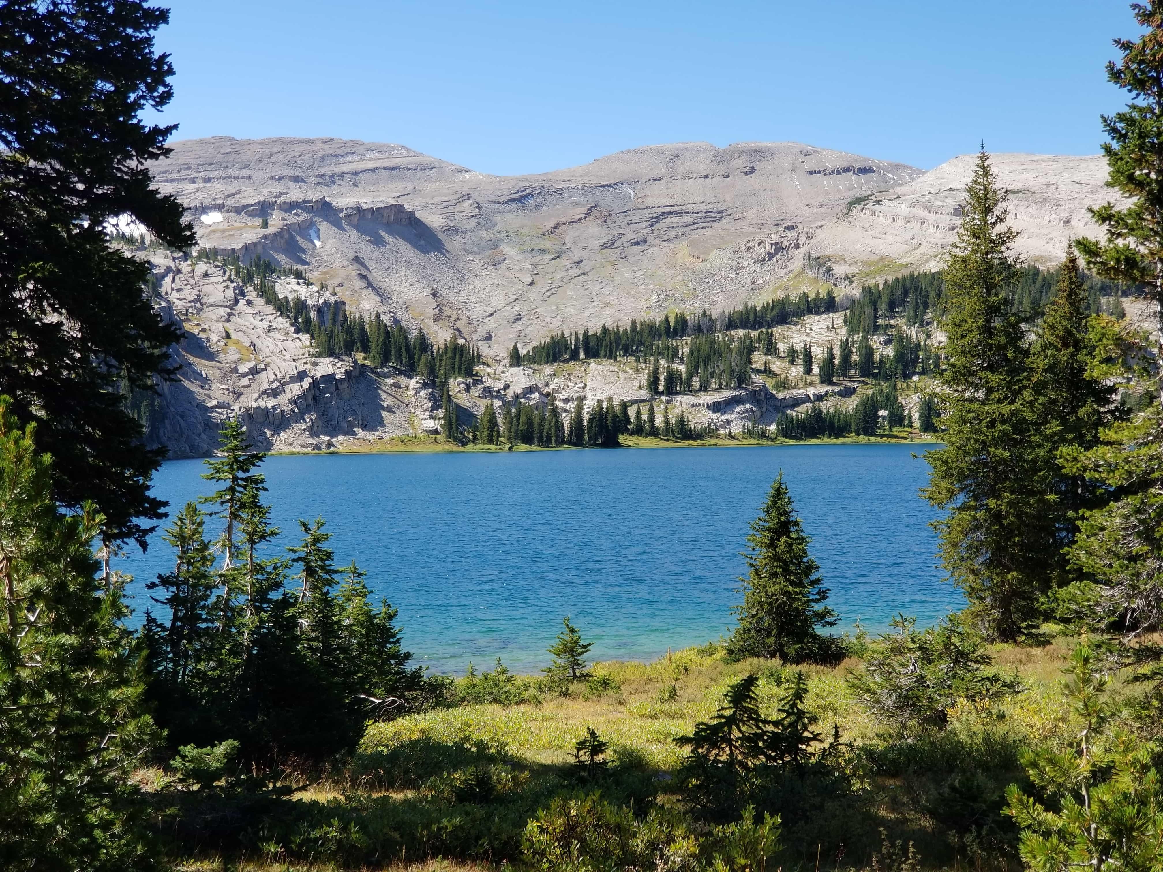 Brewster Lake, Wyoming in Gros Ventre Wilderness