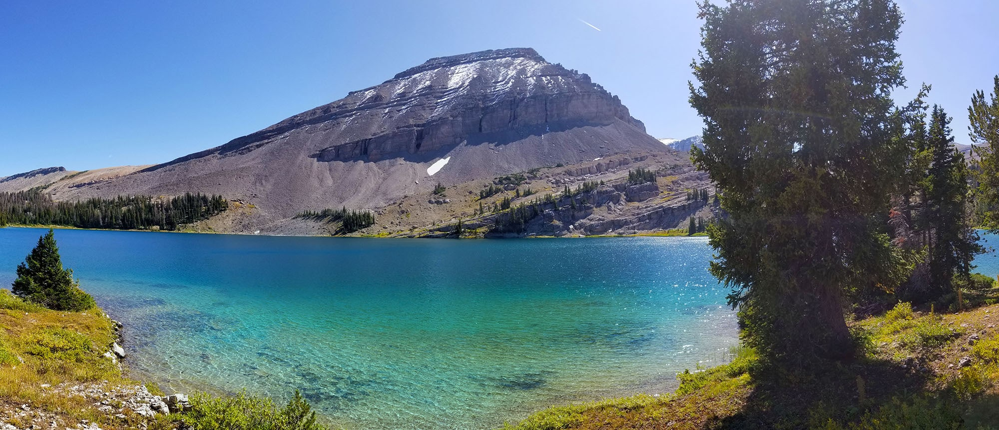 Brewster Lake, Wyoming in the Gros Ventre Range