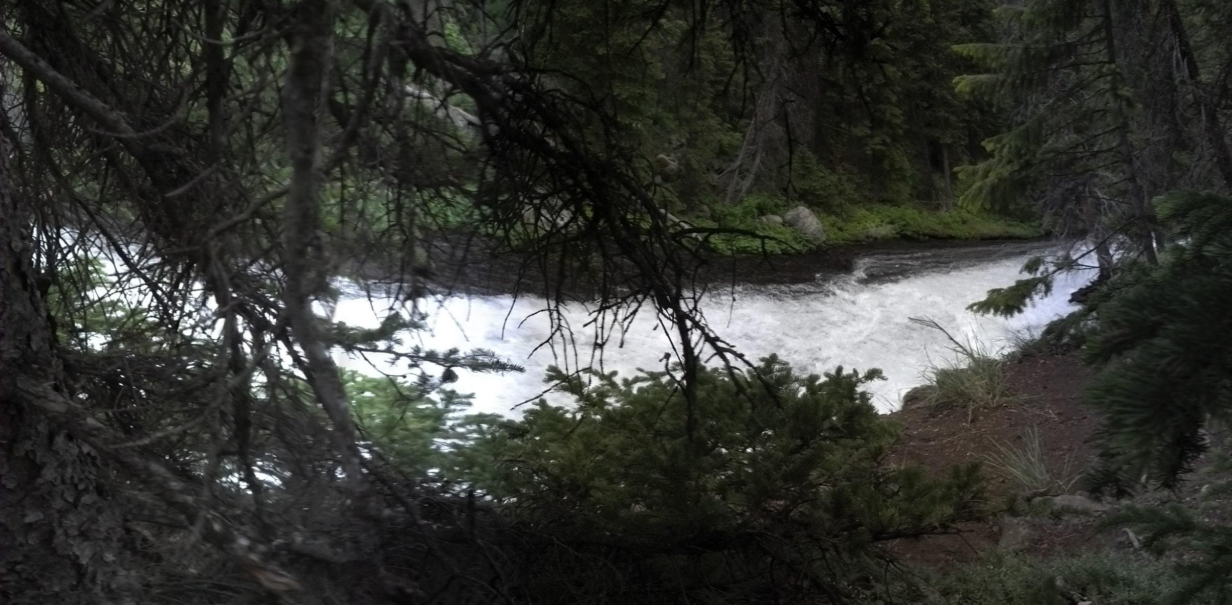 Slide Creek cascade, taken on 16 Jul 13