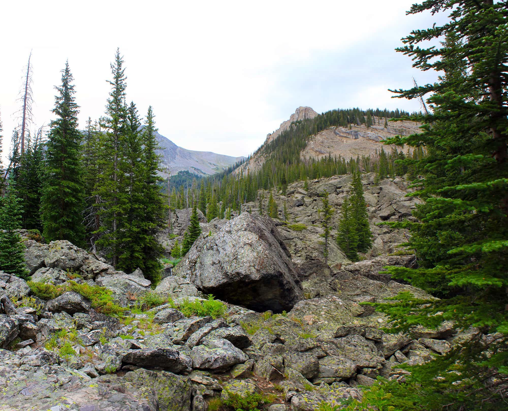 Slide Lake final climb area