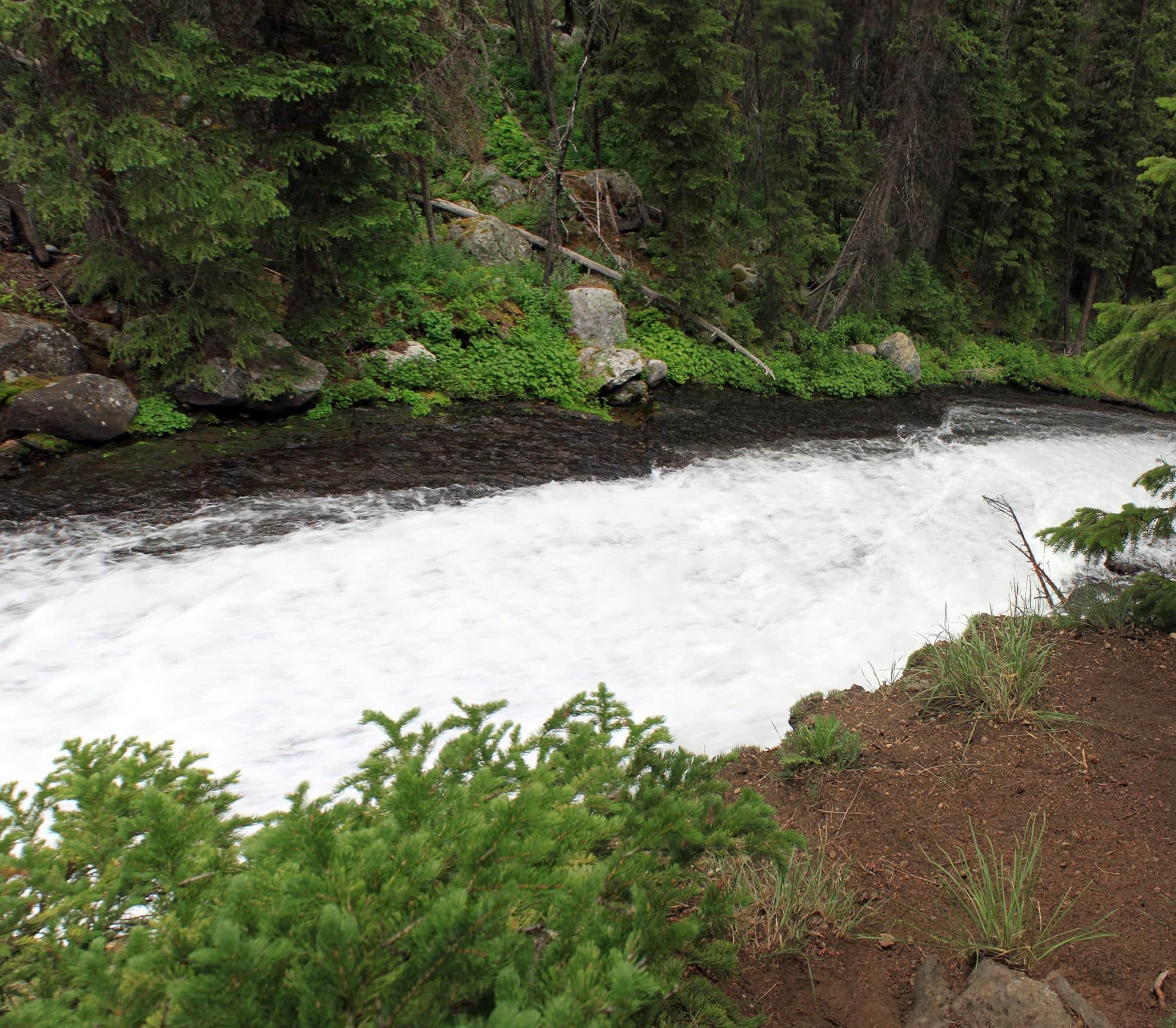 Slide Lake waterfall, Wyoming