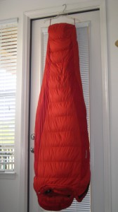 Airing out my sleeping bag