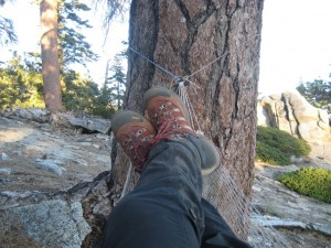 My Asolo Stynger's resting during long backpacking weekend...