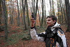 Using a GPS to find a geocache