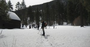 Snowshoeing in the San Bernardino Mountains, Southern CA