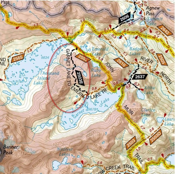 National Geographic Map - the only one that includes the trail!