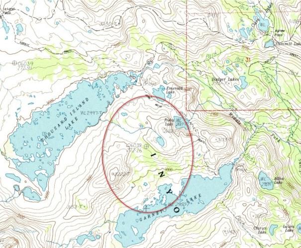 USGS - Garnet Lake Topo