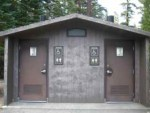 Pit toilet bathroom