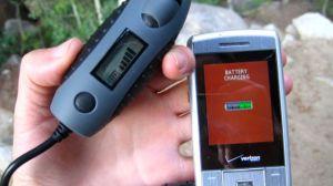 Powermonkey charging my cellphone