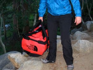 Hauling some gear in my North Face Base Camp duffel