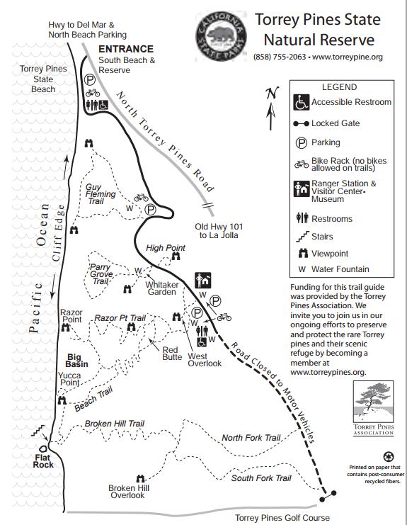 Torrey Pines Hiking Trails Map