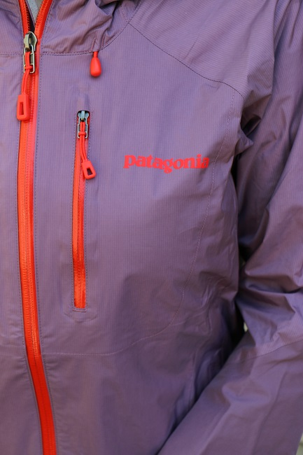Waterproof zippers on the Patagonia Torrentshell Stretch Jacket