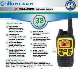 Midland X-Talker Spec Sheet
