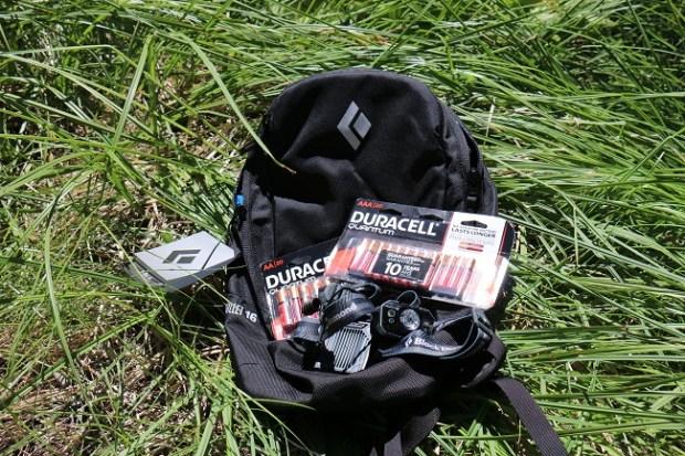 Black Diamond & Duracell pack