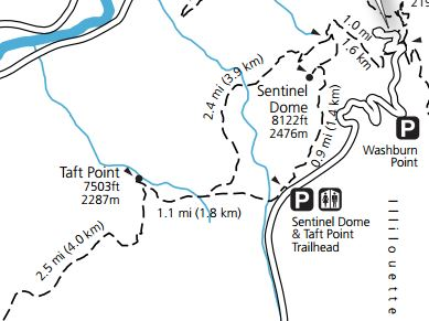Taft Point Map