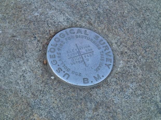 Taft Point Geological Marker
