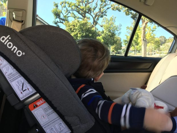 Hiking Baby enjoying the view from the Diono Radian car seat