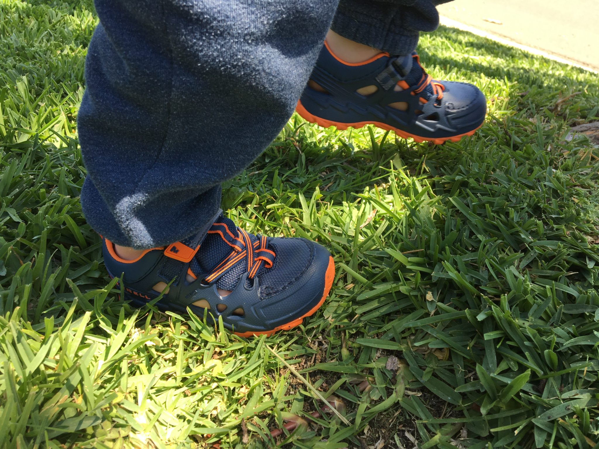 Hiking Baby testing the Merrell Kids Hydro 2.0