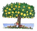 man-under-smiley-tree-illustration-by-frits-ahlefeldt