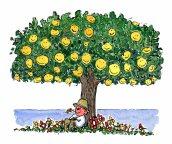 Dwelling under a tree