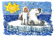 man-and-polar-bear-on-ice-drifting-stop-global-warming-drawing-by-frits-ahlefeldt