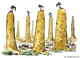 human Islands at low tide