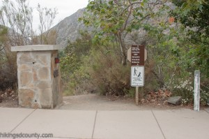 Visitor Center Loop trail head at Mission Trails