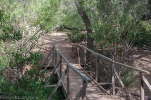 A footbridge crosses Suycott Wash in Mission Trails